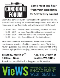 Candidate Forum postcard